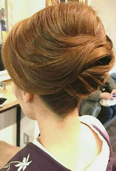 excellent elegant updo Evening Hairstyles, Mom Hairstyles, Wedding Hairstyles, Wedding Hair And Makeup, Hair Makeup, Mother Of The Bride Hair, Hair Arrange, Japanese Hairstyle, Elegant Updo