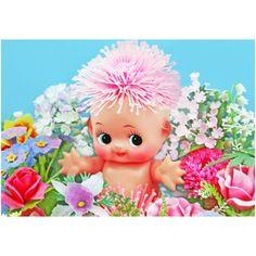 Etsy の kewpie flowers print 5 x 7 PICK ME by boopsiedaisy Sonny Angel, Halloween Stickers, Happy Spring, Wow Products, Big Eyes, Flower Prints, Vintage Toys, Art Dolls, Vibrant Colors