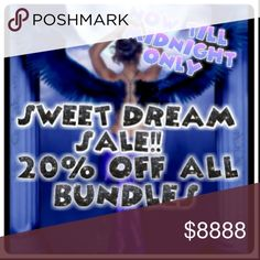 SALE!! Now till midnight only!! All bundles are 20% off!! Offers welcome! Other