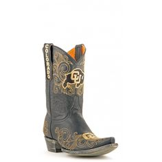 """Gameday Boots 10"""" Leather University Of Colorado Cowboy Boots"""