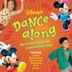"Disney's Dance-Along (CD)--Disney's Dance-Along is a CD and booklet set that includes songs like ""Shout,"" ""Born to Hand Jive,"" ""Bunny Hop,"" and ""Twist,"" and instructions on how to do all the dances mentioned on the disc."