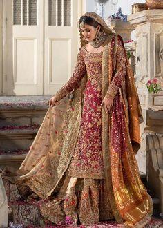 Latest Bridal Dresses, Pakistani Wedding Outfits, Pakistani Wedding Dresses, Wedding Dresses For Girls, Pakistani Dress Design, Bridal Outfits, Indian Dresses, Indian Outfits, Wedding Hijab