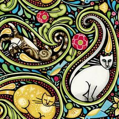 Cats and paisley