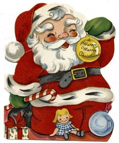 Papai Noel em imagens antigas ou vintage | Imagens para Decoupage