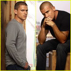 wentworth miller and dominic purcell i think they could pull off being brothers
