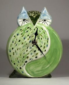 Echo of Deco Art Deco Ceramic Owl Wall Clock | eBay