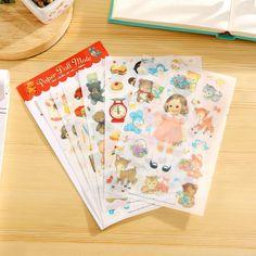 Memo Pads Notebooks & Writing Pads 1 X Funny Sticker Diy Notebook Mori Girl Emotion Photo Album Envelope Scrapbook Memo Pad Pvc Sticker Decoration