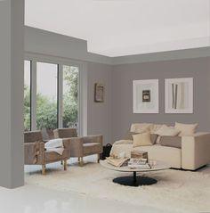 12 nuances de peinture gris taupe pour un salon zen | peinture mur ...