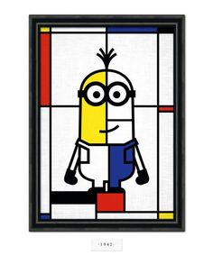 Minions do art history. Use as a way for students to discover and memorize actual works of art. Partners work together to figure out the real artwork and artist, present information to class. Sitting Model: Kevin