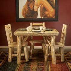Cedar Lake Log Kitchenette Table