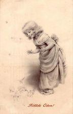 Ak Fröhliche Ostern Mädchen mit Küken Litho gelaufen 1911