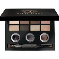Bobbi Brown Luxe Eye Edition Palette found on Polyvore featuring beauty products, makeup, eyes, gel eyeliner, gel eye liner, bobbi brown cosmetics and palette eyeshadow