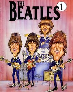 Amusing caricatures of the Beatles. Foto Beatles, Beatles Band, Beatles Photos, The Beatles, Funny Caricatures, Celebrity Caricatures, Fearsome Foursome, Beatles Party, The Fab Four