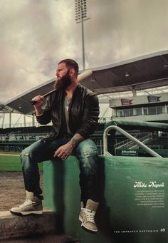 Mike Napoli..Boston Red Sox. I am in LOVE with this man + his beard.