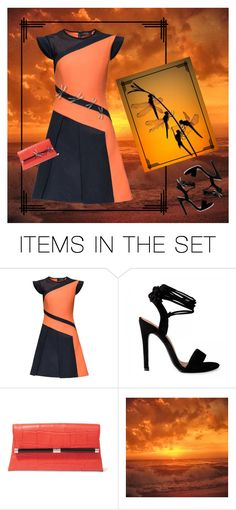 """Dragonfly Sunset"" by kbarkstyle ❤ liked on Polyvore featuring art"