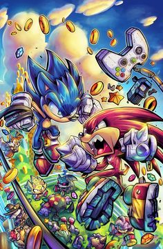 Anyone played Sonic Mania worth getting? Megavisions Cover Art 03 - Sonic Fighters By Rob Duenas Hedgehog Art, Sonic Fan Art, Graffiti Wallpaper, Cartoon Wallpaper, Cover Art, Tribute, Gaming Wallpapers, Video Game Characters, Video Game Art