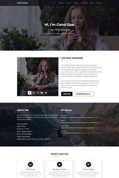 PERSONAL  Portfolio PSD Template Web Developer Portfolio Website, Best Portfolio Websites, Portfolio Website Design, Great Website Design, Simple Web Design, Website Design Layout, Personal Website Design, Website Ideas, Layout Print