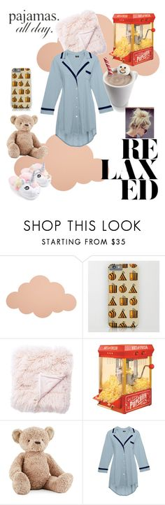 """😴"" by chickennugget71 ❤ liked on Polyvore featuring ferm LIVING, Nostalgia Electrics, Jellycat, Cosabella, Wilton and LovelyLoungewear"