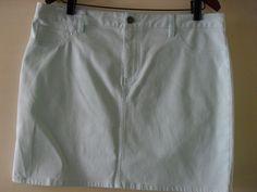 MIX brand jeans skirt size 14 pale mint green EUC