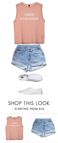 """This shirt shows how I feel"" by kjp456 ❤ liked on Polyvore featuring Levi's and Vans"