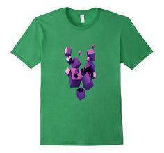 Amazon.com: Purple Cubes Design T-Shirt: Clothing