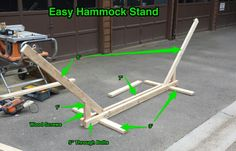 Hammock stand using 2x4's