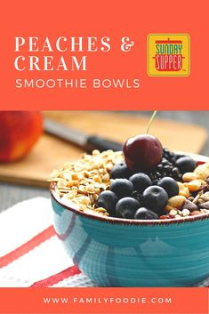 Peaches & Cream Smoothie Bowls #SundaySupper