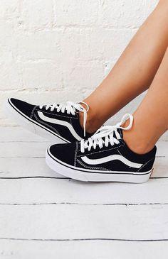 Vans Old Skool Sneaker - Black/White from peppermayo.com