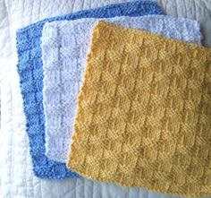 .basic basketweave dishcloth - Learn a New Stitch with 6 Easy Knitted Dishcloth Patterns