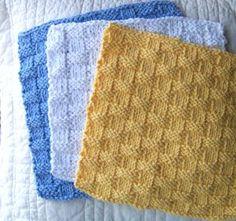 Basic Basketweave Dishcloth | AllFreeKnitting.com
