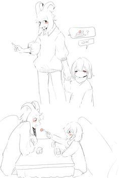 Asriel and Frisk