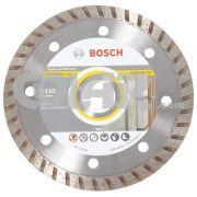 Disco Para Serra Mármore Universal Turbo - Bosch - Disco de diamante 110mm para máquinas manuais.     Aplicação em materiais de construção em geral, especialmente tijolos, telhas e concretos.  www.colar.com