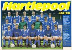 Hartlepool Utd in Hartlepool United Fc, English Football Teams, Football Team Pictures, Football Cards, Baseball Cards, Everton Fc, Back Row, Squad, The Row