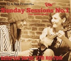 Sun November 27th Dj n Bex present… Sunday Sessions No. 1 ft. the awesome Alex James Ellison and other special guests. Tickets at https://www.eventbrite.co.uk/e/sunday-sessions-no1-tickets-28689124945. Nikki Davis Jones and Rebecca McKinnis bring you an eclectic mix of music featuring new material and covers. Accompanied by a banging band. A night to sit back and bob on the water and enjoy the vibes.