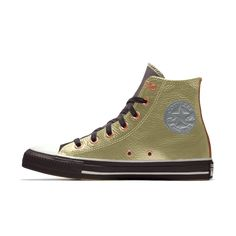 Converse by You. Choose from unique colors, patterns and materials and add personalized text to create a shoe you can call your own. Custom Converse, Custom Shoes, Converse Chuck Taylor Leather, Custom Chuck Taylors, Nike Co, Leather High Tops, Top Shoes, High Top Sneakers, Fashion