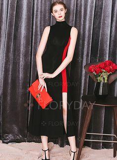 Dresses - $75.38 - Chiffon Solid Sleeveless Mid-Calf Elegant Dresses…