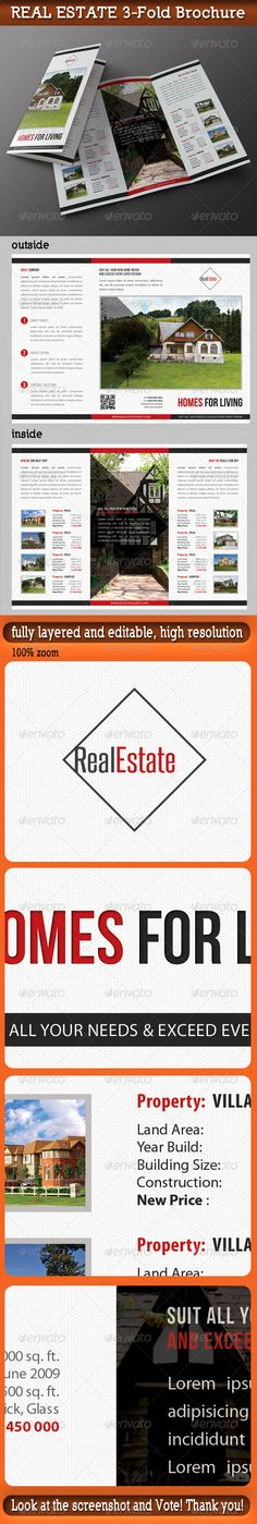 Real Estate 3Fold Brochure 01 — Photoshop PSD #rent #commerce • Available here → https://graphicriver.net/item/real-estate-3fold-brochure-01/7354154?ref=pxcr