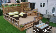 Backyard Deck For Meeting With Friends