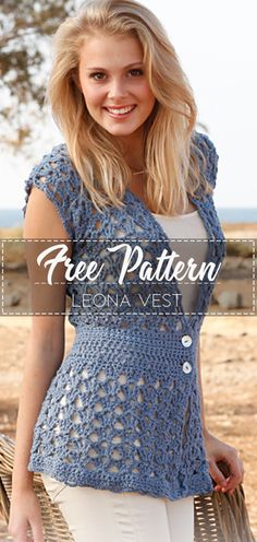 Free pattern Leona Vest – Pattern Free – Easy Crochet Best Picture For crochet patterns for beginners For Your Taste You are looking for something, and it is going to tell you exactly what you are l Crochet Shrug Pattern Free, Knitting Patterns Free, Free Crochet, Free Pattern, Top Pattern, Crochet Patterns Free Tops, Easy Crochet Shrug, Crochet Crafts, Crochet Summer Tops