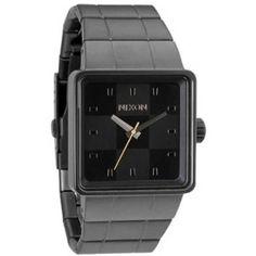Nixon Men's NXA013680 Square Dial Ion-Plated Black Dial Watch: Nixon: Amazon.ca: Watches $150CAD
