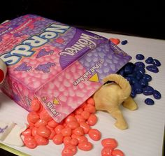 realistic box o' Nerds cake #debbiedoescakes #foodnetwork #dog #puppy