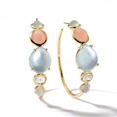 18K Gold Rock Candy® Gelato #3 Hoops in Silk Road Dream - Earrings -Ippolita<32995<3
