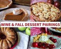 Wine and Fall Dessert Pairings