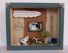 Custom Commemorative Cat Shadow Box by ShadowsofLove on Etsy, $45.00