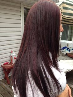 Chocolate Brown & dark mahogany brown highlight effect color