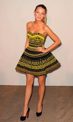 Blake Lively Style. i would  wear the heck out if this dress ;)