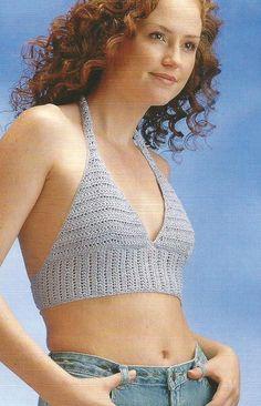 Crochet Pattern for a HALTER TOP