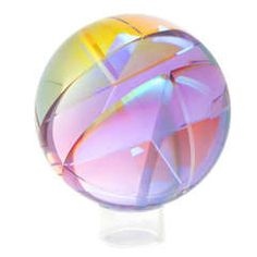 Paul Manners Segmented Glass Sculpture Sphere, 1986