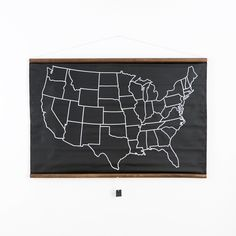 Chalkboard United States Map | $85 | Brit.co