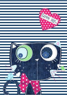 All about surface pattern ,textiles and graphics: Kitty Cats